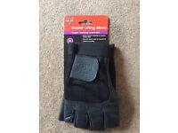 Ocelot quality leather training gloves / weight lifting