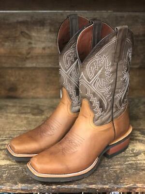 HorsePower Men's Honey Crazy Horse & Cafe Magic Snip Toe Boots HP6108 (Magic Boots)