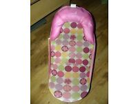Baby girls bath seat can be used from birth