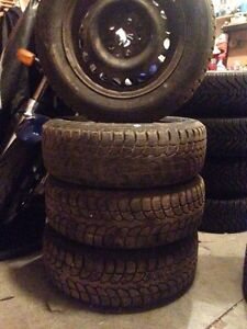 Winter claw snow tires on 5 bolt 100mm rims