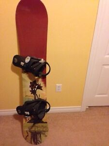 5150 SNOWBOARD AND BINDINGS