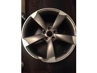 Audi rotor alloy wheel genuine
