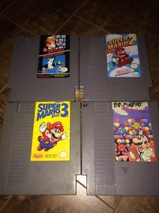 Nintendo (NES) with two controllers + 4 Mario games Kingston Kingston Area image 2