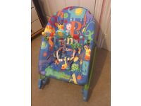 Fisher Price Infant to Toddler 2 in 1 rocker and chair with vibration