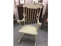 Beautiful cream rocking chair