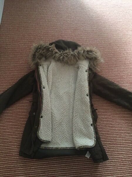 Girls M&S parka coat 7-8 years VGC