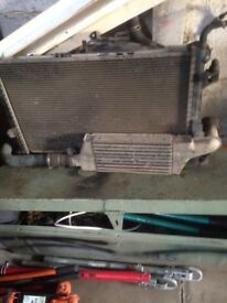 Vauxhall combo radiator and intercooler
