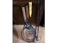 Squash, Tennis, Golf Equipment