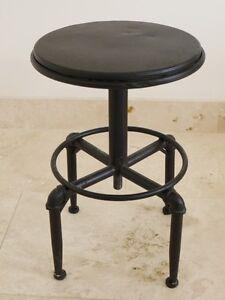 Industriale metallo sgabello macchinista stile Scrivania ,nera cucina ...