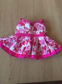 Build a bear workshop pink dress