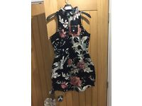 Ladies Misguided Oriental Style Mini Dress Size 8