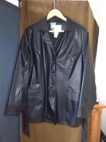 Large faux leather coat & Fur coat