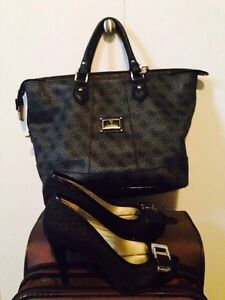 Guess handbag and heels 7.5 size $40 for both