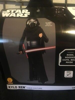 STAR WARS HALLOWEEN DRESS UP Kylo Ren Rubies Child Costume Size SMALL 4-6 NEW