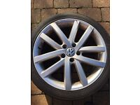 "Vancouver alloys 18"" genuine for vw golf set of 4 with tyres"