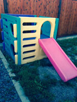 Little tykes cube climber with slide