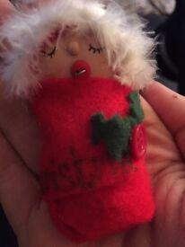 Homemade baby santa
