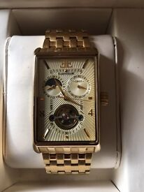 Thomas Earnshaw 14ct Gold Plated Automatic Men's Watch