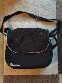 Unisex Silver Cross Black Changing Bag - Wayfarer / Pioneer / Surf