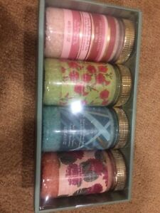 BNIB set of 4 Christian Siriano bath salts