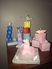 Origami name cubes