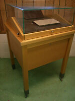 Locking Display Case with drawers and wheels