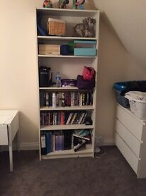 White billy bookcase