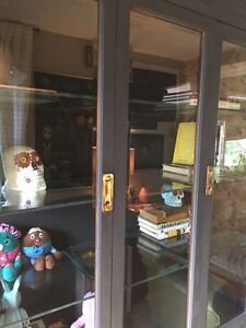 Large Black Glass Display China Cabinet! London Ontario image 3