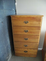 For sale Dresser's and sewing machine cabinet and chair