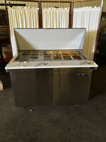 Stainless Steel Sandwich Prep Table or Salad Prep Table