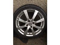 "OZ Racing 17"" alloys, 4x108, 205/45/17 tyres, fits fiesta"