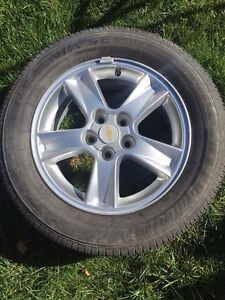 Tires and rims for chevy, great for winter