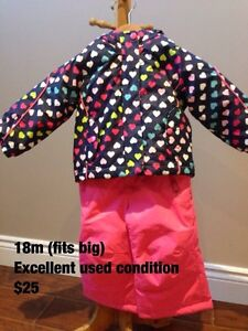18m (fits big) Girls Snowsuit