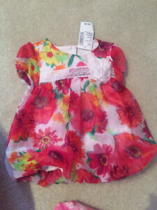 Girl's dress  & matching sandals -  0-3 months, new with tags