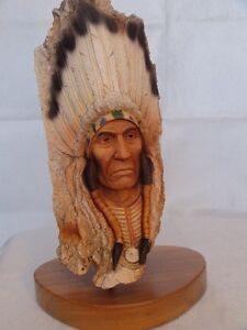Neil Rose LTD Edition Indian Head Figurines London Ontario image 4