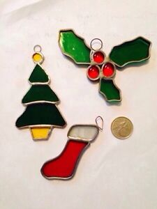 Vintage Stained Glass Christmas Decorations
