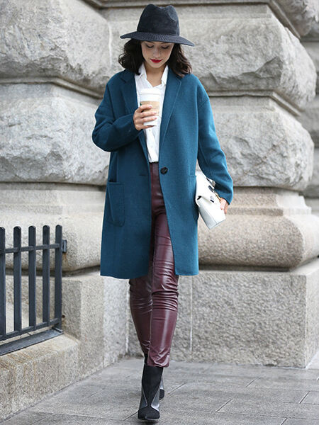Casual Premium Wool Blend Trench Coat