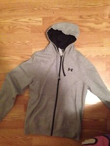 Under armour hoodie and shirt with black addidas shorts
