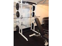 Half rack, power rack, squat rack, power cage, rigs, benches, weights