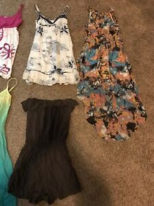 7 summer dressed and one romper Kitchener / Waterloo Kitchener Area image 2