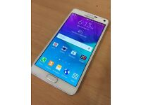 Samsung galaxy Note 4 white 32gb factory unlocked excellent condition boxed