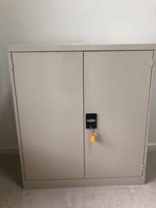 Brownbuilt metal storage cupboard