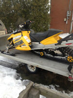 Ski-Doo Rev 600 HO SDI and double trailer