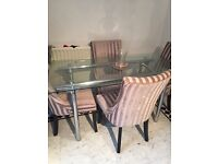 FREE GLASS DINING TABLE NO CHAIRS INCLUDED NEED GONE ASAP