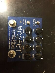 Big tone music brewery mosfet overdrive &a boost pedal