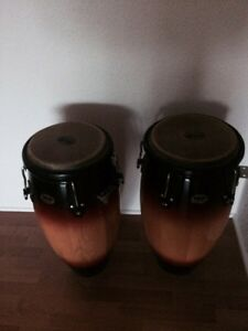 Set of congos with stand