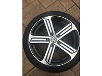 "GENUINE VW MK7 GOLF R 18"" CADIZ ALLOYS 5G0601025AG 5X112PCD"