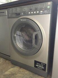 Hotpoint Aquarius WDAL 9640G washing Machine/ Dryer :Washer Dryer - Graphite