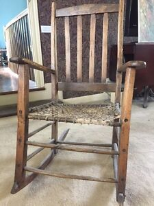 Antique wood rocking chair from Quebec