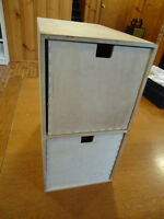 2-Drawer CD Cabinet in Wood